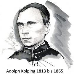 Portraitzeichnung Adolph Kolping