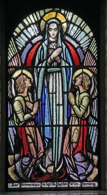 Kirchenfenster St. Marien Sprakel, Maria immaculata