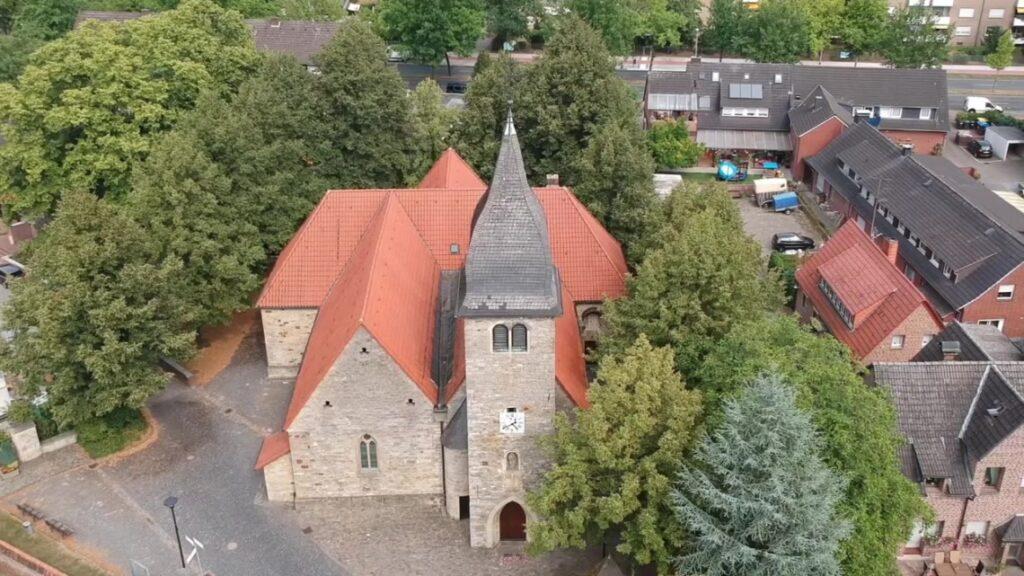 Kirche St. Josef Kinderhaus - Luftbild