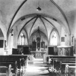 schwarz-weiß Innen-Aufnahme von alter St. Josefs Kirche